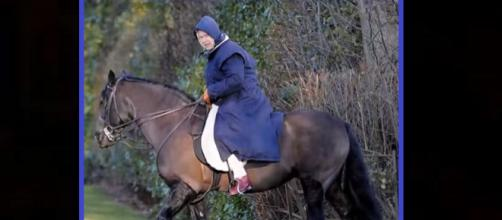 Queen Elizabeth's love for horses prompts her to use modern technology. - [Image by Learpilotken / YouTube Screenshot]