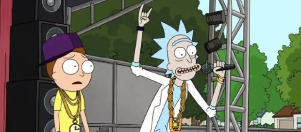 Rick and Morty in action. - [Credits: Rick and Morty / Adult Swim with permission]