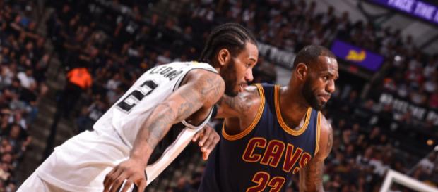 LeBron James and Kawhi Leonard potential tandem with the Spurs - [image credit: Spurs Nation/Flickr]