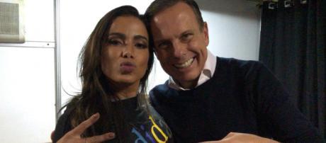Anitta grava vídeo com pré-candidato ao governo de SP e é criticada (Foto: Divulgação/João Doria)