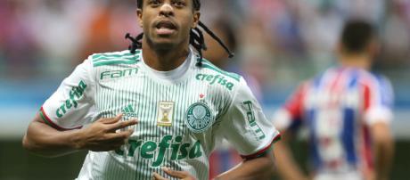 Keno, atacante do Palmeiras no Brasileiro