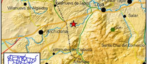 Terremoto leve en la provincia de Granada