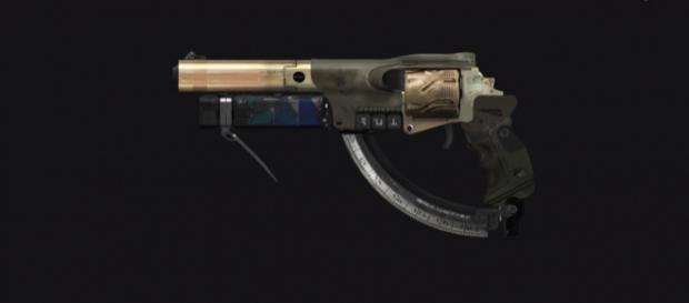 A concept art of a hand cannon that is likely to be introduced in 'Destiny 2: Forsaken' DLC. - [xHOUNDISHx / YouTube screencap]