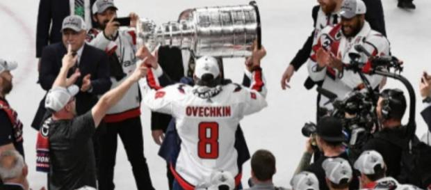 Ovechkin and the Capitals are now Stanley Cup champions. [Image via NHL.com/YouTube]