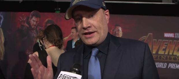 To many people, Marvel Studios chief Kevin Feige seems like a perfect replacement for Kathleen Kennedy. [Image via Variety/YouTube]