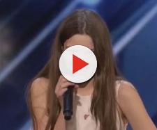 "13-year-old Courtney Hadwin stunned judges and audience on ""America's Got Talent"" [Image America's Got Talent/YouTube]"