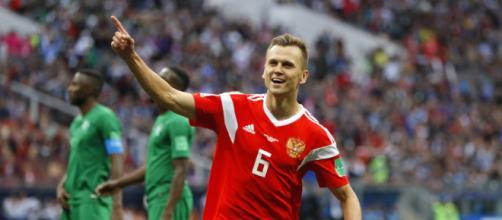 Cherysev fue la figura del partido. - fifa.com.