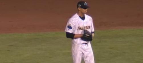 Jonathan Loaisiga will make his first MLB start on June 15. - [Image via minorleaguebaseball / YouTube Screencap]