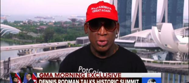 Espressing his emotions of the summit that is making history, Dennis Rodman becomes emotional. - [ABC NEWS / YouTube screencap]