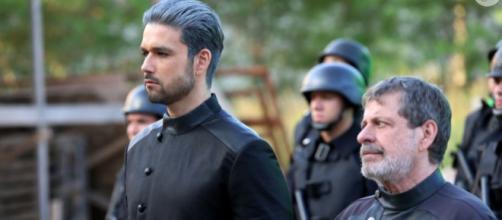 Ricardo Montana promoverá carnificina no final da novela Apocalipse (Foto Munir Chatack/Record TV)