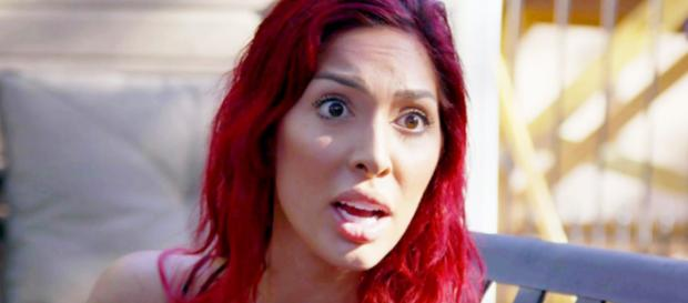Farrah Abraham's temper has apparently gotten her arrested. [image source: MTV/YouTube]