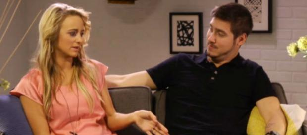Leah Messer and Jeremy Calvert appear on a 'Teen Mom 2' after show. - [Photo via MTV / YouTube]