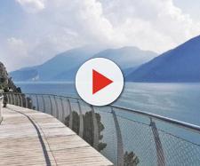 Curve a strapiombo sul lago di Garda: ecco le prime fotografie (foto- repubblica.it)
