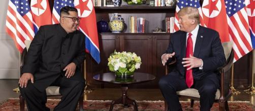 Donald Trump and Kim Jong-un in Capella Hotel during Singapore summit (Image courtesy - Dan Scavino Jr., Wikimedia Commons)