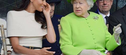 Meghan Markle y la reina Isabel II viajan juntas.