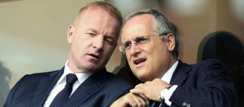 Claudio Lotito e Igli Tare, rispettivamente presidente e direttore sportivo della Lazio