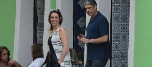 William Bonner com sua futura esposa, Natasha Dantas