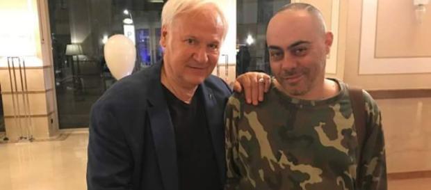 Alfredo Troise con il letterato Jean-Noel Schifanò