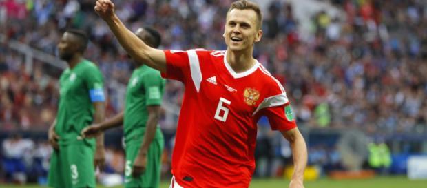 Cheryshev, grande nome da partida contra a Arábia Saudita