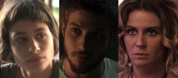 Manu, Ícaro e Luzia, personagens de 'Segundo Sol'
