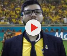 "Felipe Ferreira no vídeo ""O BRASIL PRECISA PERDER A COPA DO MUNDO"" - via Youtube"