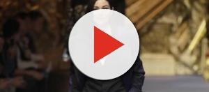 Monica Bellucci alla sfilata per Dolce & Gabbana alla Milano fashion week uomo