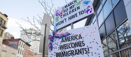 Anti Trump immigration protest in Baltimore Image from Bruce Emmerling via Wikimedia Commons