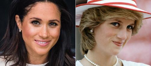 Meghan Markle se pone los pendientes de la princesa Diana