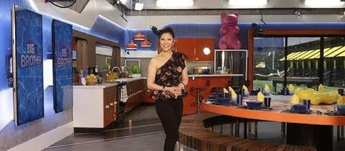 "Julie Chen gives a tour of the new house on ""Big Brother"" [Image: Big Brother/YouTube screenshot]"