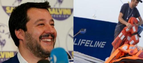 Matteo Salvini e lo scontro social con 'Lifeline'. Blasting News