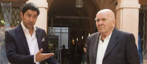 Salvo Nugnes con l'artista Mario Mattei