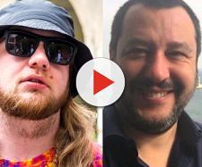 sinistra Nitro Wilson, a destra Matteo Salvini