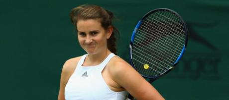 Katy Dunne is one more qualifying win away from main draw achievement in Birmingham... Image credit - eurosport.com