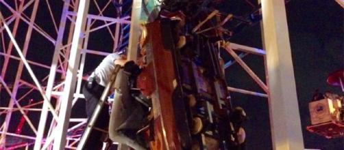 La montaña rusa de 'Sand Blaster' en Daytona Beach fue protagonista de un incidente