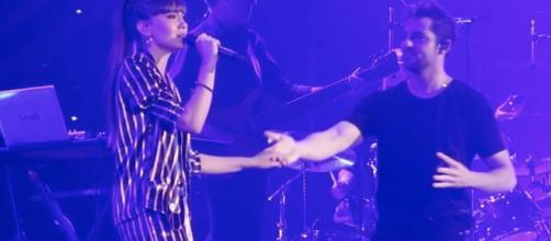 OT: David Bisbal y Aitana Ocaña cantan juntos en el Palau Sant Jordi