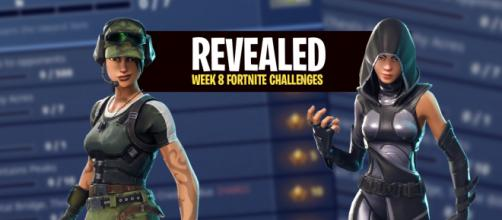 "Week 8 ""Fortnite Battle Royale"" challenges have been revealed. Image Credit: Own work"