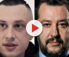 Inoki Ness a sinistra, Matteo Salvini a destra