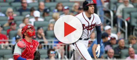 Atlanta's Freddie Freeman is the NL's leading vote-getter. [Image via FOX Sports/YouTube]