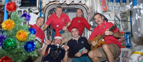 Chris Hadfield enjoys Christmas holiday in the Unity node of ISS (Image courtesy – NASA, Wikimedia Commons)