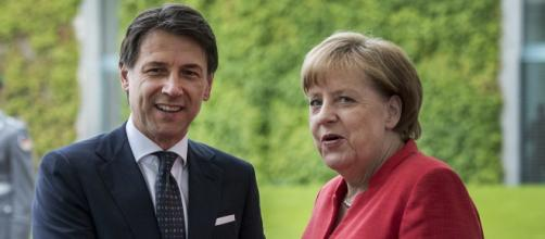 Giuseppe Conte ed Angela Merkel