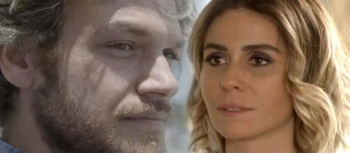 Beto e Luzia se reencontram em Segundo Sol (Foto: TV Globo)