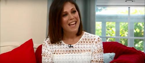 Erin Krakow of 'When Calls the Heart' is all smiles and all heart in sending birthday wishes to castmates. Screencap homeandfamilytv/YouTube