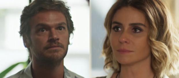 Miguel revela para Luzia que seu nome é Beto Falcão e ela fica arrasada em Segundo Sol (Foto: TV Globo)