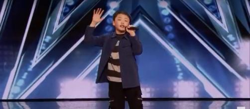 13-year-old Jeffrey Li gave an audition that pleased the 'America's Got Talent' panel. Image source: AGT/YouTube