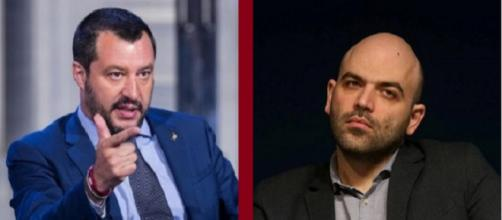 Continua il botta e risposta mediatico tra Salvini e Saviano (Corriere.it - repubblica.it)