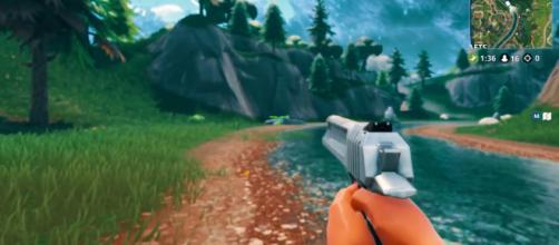 'Fortnite Battle Royale' first-person mode files have been recovered through data mining. [Image Credit: Nasty/YouTube]