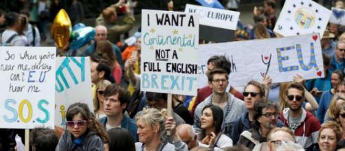 A Londra di è svolta una manifestazione per chiedere un nuovo referendum sulla Brexit.