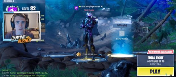 A screenshot from 'Fortnite' - YouTube screencap/TheCampingRusher - Fortnite