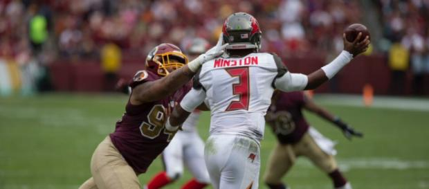 Jameis Winston is expected to begin the 2018 season suspended. - [Image Source: Flickr   Keith Allison]