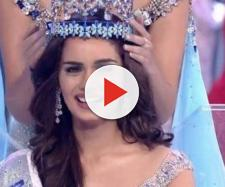 India's Manushi Chillar crowned Miss World 2017 - (image via Zoom tv screencap)